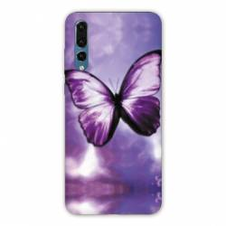 Coque Samsung Galaxy Note 10 papillons violet et blanc