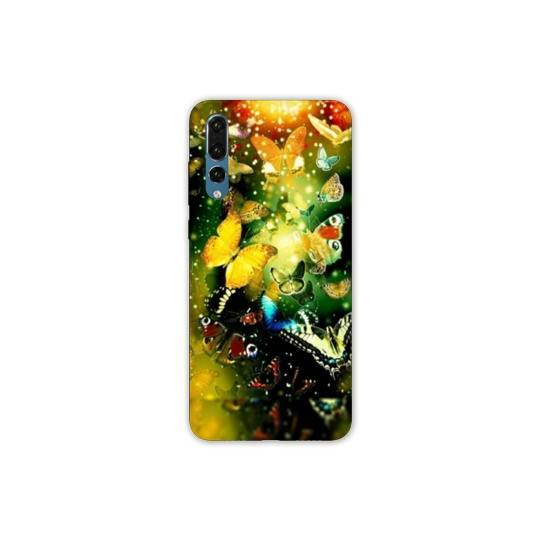 Coque Samsung Galaxy Note 10 papillons papillon jaune