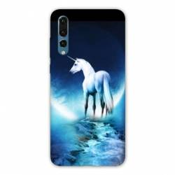 Coque Samsung Galaxy Note 10 Licorne Lune