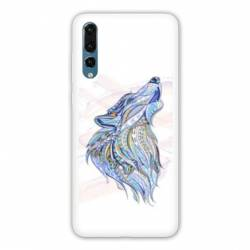 Coque Samsung Galaxy Note 10 Ethniques Loup Color