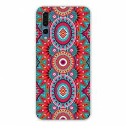 Coque Samsung Galaxy Note 10 Etnic abstrait Pic rouge
