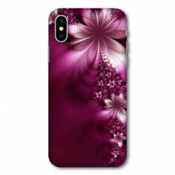 Coque Samsung Galaxy A10 fleur violette montante
