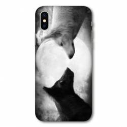 Coque Samsung Galaxy A10 Loup Duo