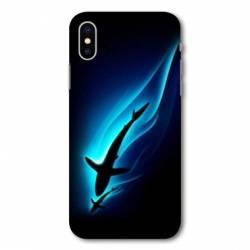 Coque Samsung Galaxy A10 Requin Noir