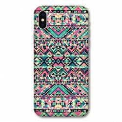 Coque Samsung Galaxy A10 motifs Aztec azteque rose