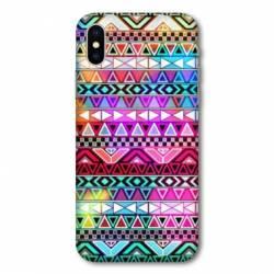 Coque Samsung Galaxy A10 motifs Aztec azteque rouge