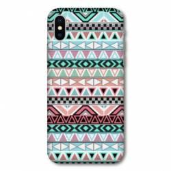 Coque Samsung Galaxy A10 motifs Aztec azteque turquoise