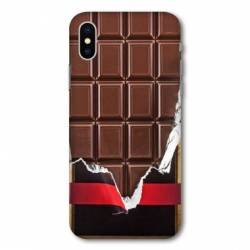 Coque Samsung Galaxy A10 Trompe œil chocolat