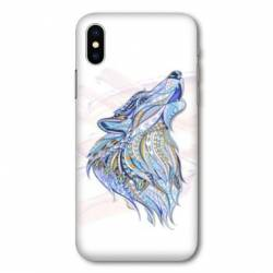 Coque Samsung Galaxy A10 Ethniques Loup Color