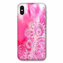 Coque Samsung Galaxy A10 Etnic abstrait Bouclier rose
