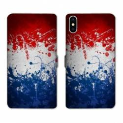 Housse cuir portefeuille Samsung Galaxy A10 France Eclaboussure