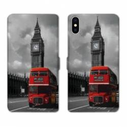 Housse cuir portefeuille Samsung Galaxy A10 Angleterre London Bus