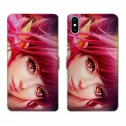 Housse cuir portefeuille Samsung Galaxy A10 Manga Elfe