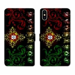 Housse cuir portefeuille Samsung Galaxy A10 Portugal Arabesque