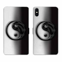 Housse cuir portefeuille Samsung Galaxy A10 Yin Yang 3d