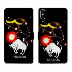 Housse cuir portefeuille Samsung Galaxy A10 signe zodiaque Taureau