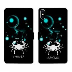 Housse cuir portefeuille Samsung Galaxy A10 signe zodiaque Cancer