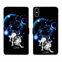 Housse cuir portefeuille Samsung Galaxy A10 signe zodiaque Lion