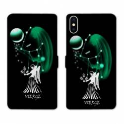 Housse cuir portefeuille Samsung Galaxy A10 signe zodiaque Vierge