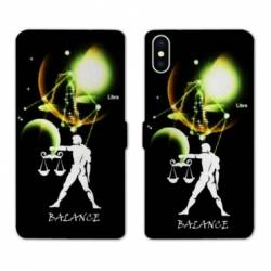 Housse cuir portefeuille Samsung Galaxy A10 signe zodiaque Balance