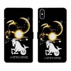 Housse cuir portefeuille Samsung Galaxy A10 signe zodiaque Capricorne