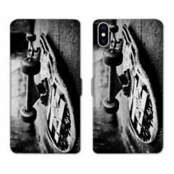 Housse cuir portefeuille Samsung Galaxy A10 Skate Vintage
