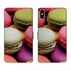 Housse cuir portefeuille Samsung Galaxy A10 Macaron
