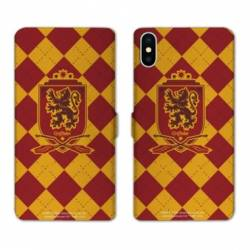 Housse cuir portefeuille Samsung Galaxy A10 WB License harry potter ecole Griffindor
