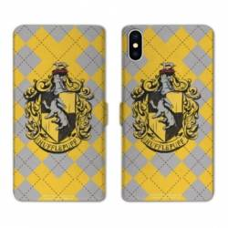 Housse cuir portefeuille Samsung Galaxy A10 WB License harry potter ecole Hufflepuff