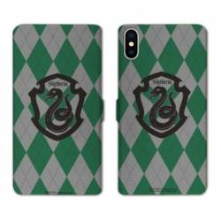 Housse cuir portefeuille Samsung Galaxy A10 WB License harry potter ecole Slytherin