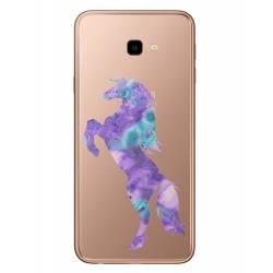 Coque transparente Samsung Galaxy J4 Plus - J415 Cheval Encre