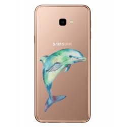 Coque transparente Samsung Galaxy J4 Plus - J415 Dauphin Encre