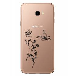 Coque transparente Samsung Galaxy J4 Plus - J415 feminine envol fleur