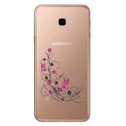 Coque transparente Samsung Galaxy J4 Plus - J415 feminine fleur papillon