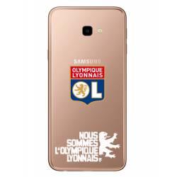 Coque transparente Samsung Galaxy J4 Plus - J415 Licence Olympique Lyonnais - double face