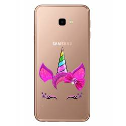 Coque transparente Samsung Galaxy J4 Plus - J415 Licorne paillette