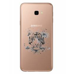Coque transparente Samsung Galaxy J4 Plus - J415 tigre