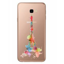Coque transparente Samsung Galaxy J4 Plus - J415 Tour eiffel colore