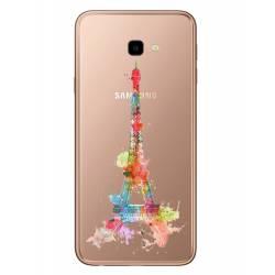 Coque transparente Samsung Galaxy J4 Plus - J415 Tour eiffel colore
