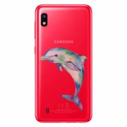 Coque transparente Samsung Galaxy A10 Dauphin Encre