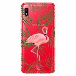 Coque transparente Samsung Galaxy A10 Flamant Rose