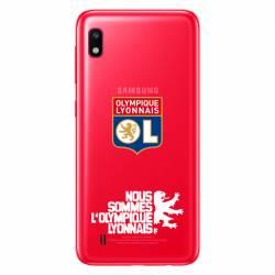 Coque transparente Samsung Galaxy A10 Licence Olympique Lyonnais - double face