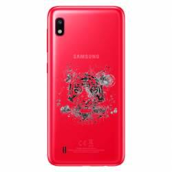 Coque transparente Samsung Galaxy A10 tigre