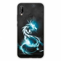 Coque Huawei Honor 8A Dragon Bleu