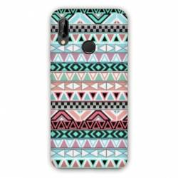 Coque Huawei Honor 8A motifs Aztec azteque turquoise