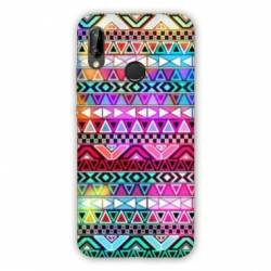 Coque Huawei Honor 8A motifs Aztec azteque rouge