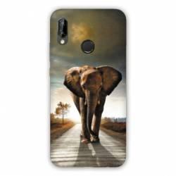 Coque Huawei Honor 8A savane Elephant route