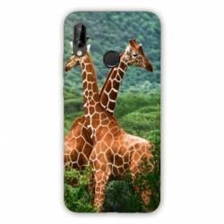 Coque Huawei Honor 8A savane Girafe Duo