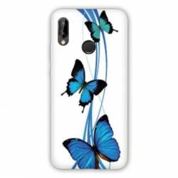 Coque Huawei Honor 8A papillons bleu