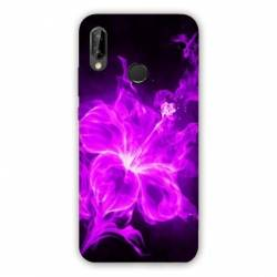 Coque Huawei Honor 8A fleur hibiscus violet
